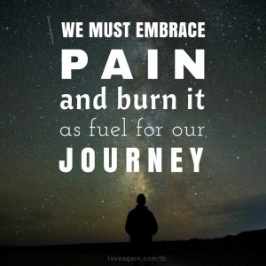 We must embrace pain and burn it as fuel for our journey